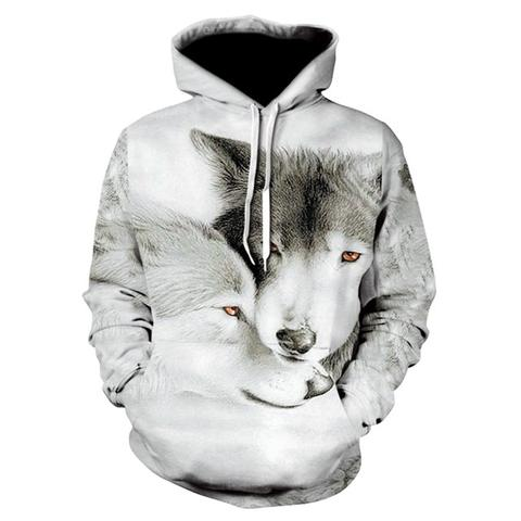 Sweat Loup Gris | Animal Totem Shop