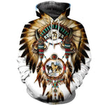 Sweat Loup Indien à Capuche | Animal Totem Shop