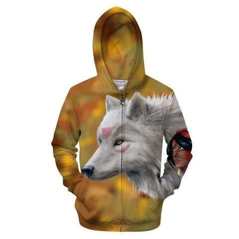 Sweat Loup Indienne | Animal Totem Shop