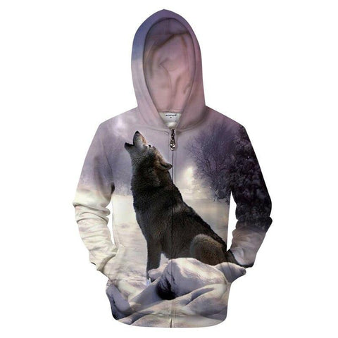 Sweat Loup Noir Hurlant | Animal Totem Shop