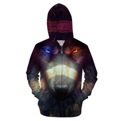 Sweat Loup Regard Perçant | Animal Totem Shop