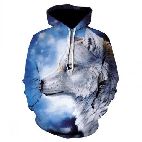 Sweat Tête de Loup Blanc | Animal Totem Shop