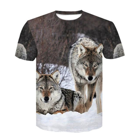 T-Shirt Imprimé Loup | Animal Totem Shop