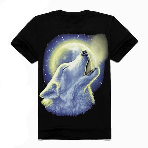 T-Shirt Loup Blanc Hurlant | Animal Totem Shop