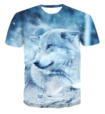 T-Shirt Loup Blanc | Animal Totem Shop