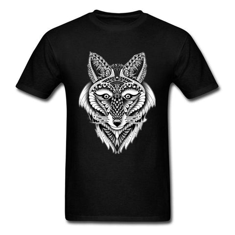 T-Shirt Loup Dessin Indien | Animal Totem Shop