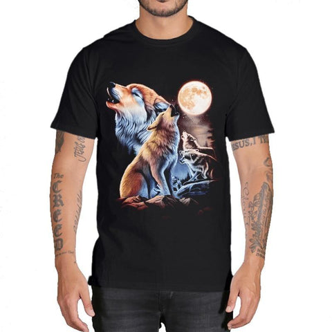T-Shirt Loup Meute Hurlant | Animal Totem Shop