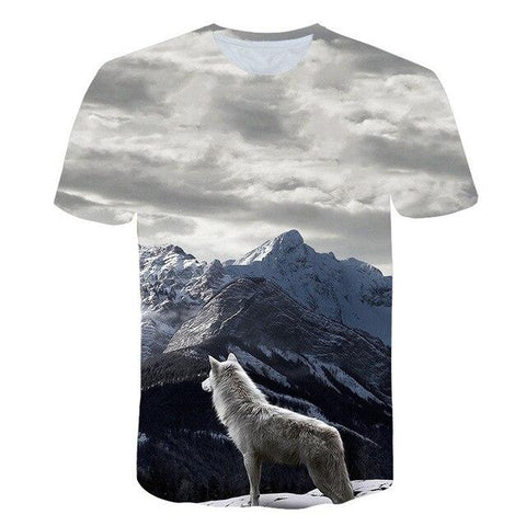 T-Shirt Loup Montagne | Animal Totem Shop