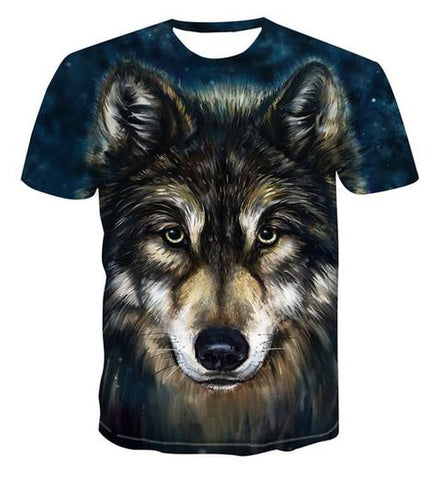 T-Shirt Tête de Loup Gris | Animal Totem Shop