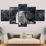 Tableau Loup Blanc | Animal Totem Shop