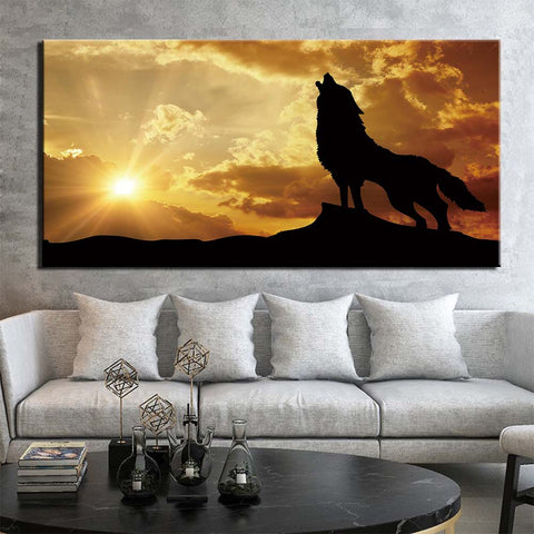 Tableau Loup Hurlement | Animal Totem Shop