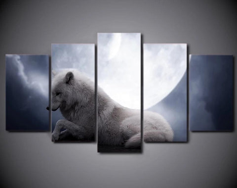 Tableau Loup Nocturne | Animal Totem Shop