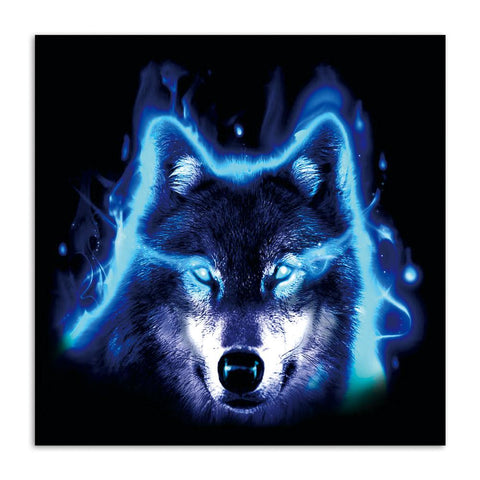 Tableau Loup Regard du Loup | Animal Totem Shop