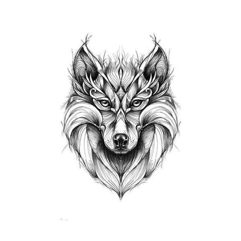 Tatouage Loup Animal Totem | Animal Totem Shop