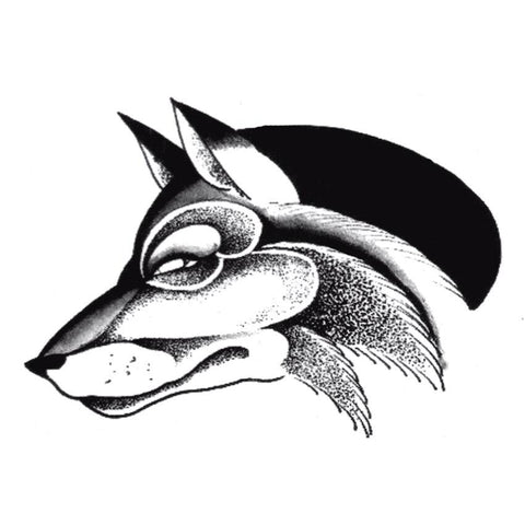 Tatouage Loup Anubis | Animal Totem Shop