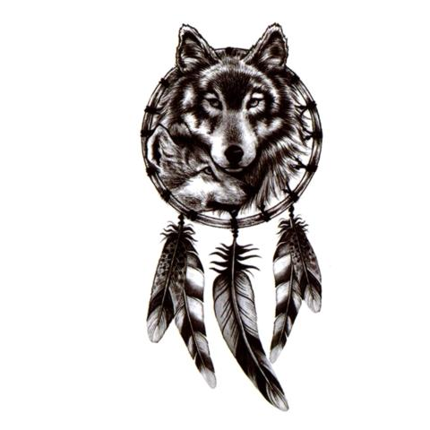 Tatouage Loup Attrape Rêve | Animal Totem Shop
