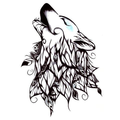 Tatouage Loup Dessin Tribal | Animal Totem Shop