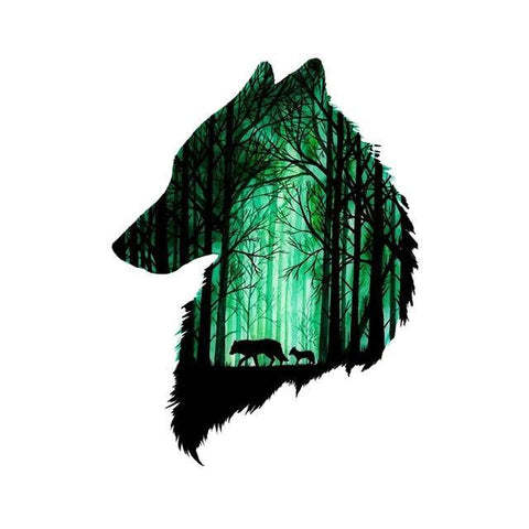 Tatouage Loup Forêt | Animal Totem Shop
