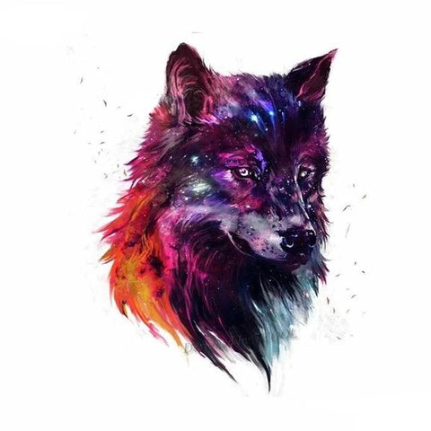 Tatouage Loup Galaxie | Animal Totem Shop