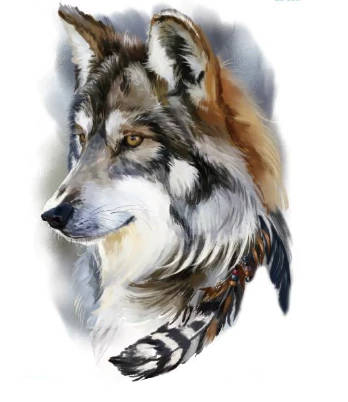 Tatouage Loup Indien | Animal Totem Shop