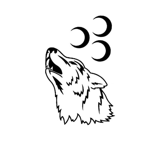 Tatouage Loup Lune | Animal Totem Shop