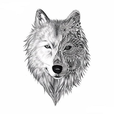 Tatouage Loup Mandala | Animal Totem Shop