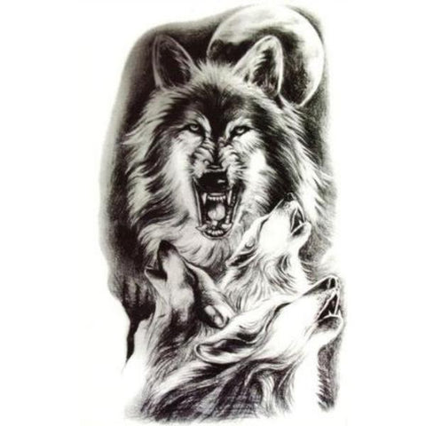 Tatouage Loup Meute | Animal Totem Shop