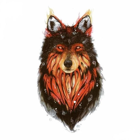 Tatouage Loup Roux | Animal Totem Shop