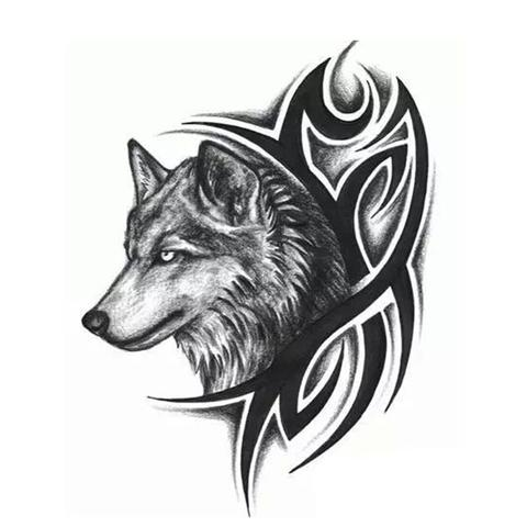 Tatouage Loup Tribal | Animal Totem Shop