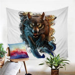Toile Loup Guerrier | Animal Totem Shop