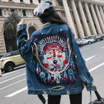 Veste Loup en Jean | Animal Totem Shop