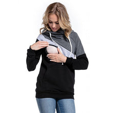 Load image into Gallery viewer, Maternity Clothes Fashion Multifunctional Mother Breastfeeding Hoodies T-shirt Stitching Breastfeeding Pregnancy Womens Clothing