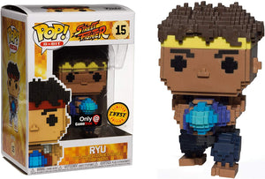 Funko Pop Street Fighter 8-bit Ryu Gamestop Exclusive Chase Variant