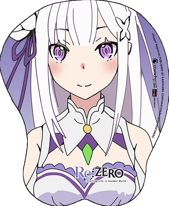 Re:Zero Emilia Oppai Mouse Pad