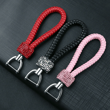 Crystal Braided Rope Key Chain - Pretty Fab Things