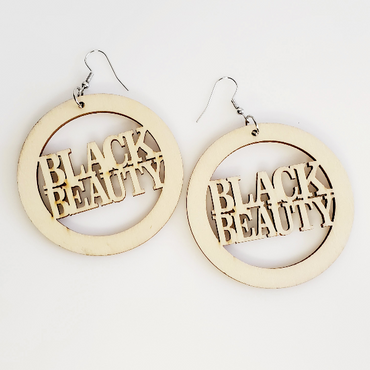 Black Beauty Wood Hoop Earrings | Pretty Fab Things