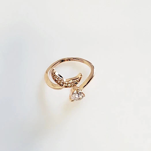 Rose Gold Mermaid Tail Adjustable Ring | Pretty Fab Things