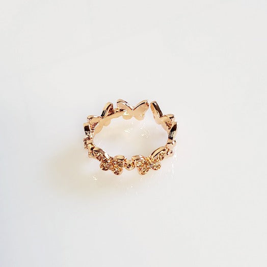 Rose Gold Adjustable Butterfly Ring | Pretty Fab Things
