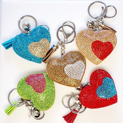 Heart Rhinestone Key Chain - Pretty Fab Things