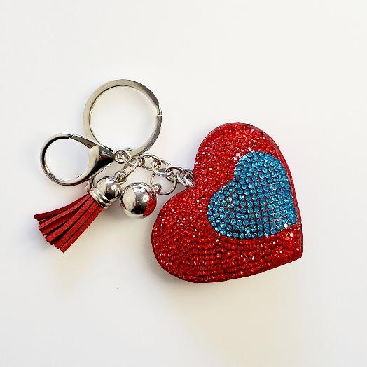 Heart Red Rhinestone Key Chain - Pretty Fab Things