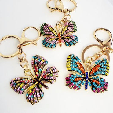 Butterfly Crystal Key Chains - Pretty Fab Things