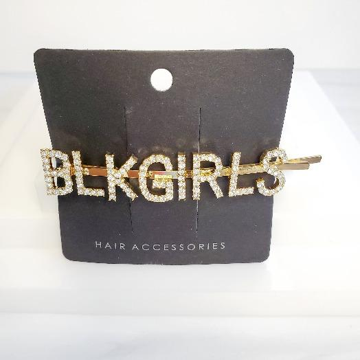 Gold Rhinestone Word Hair Clips & Accessories - Pretty Fab Things