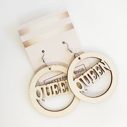 Queen Wood Hoop Earrings | Pretty Fab Things