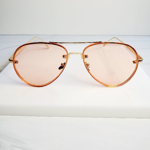 Gold Wire Large Glam Aviator Sunglasses - Pretty Fab Things