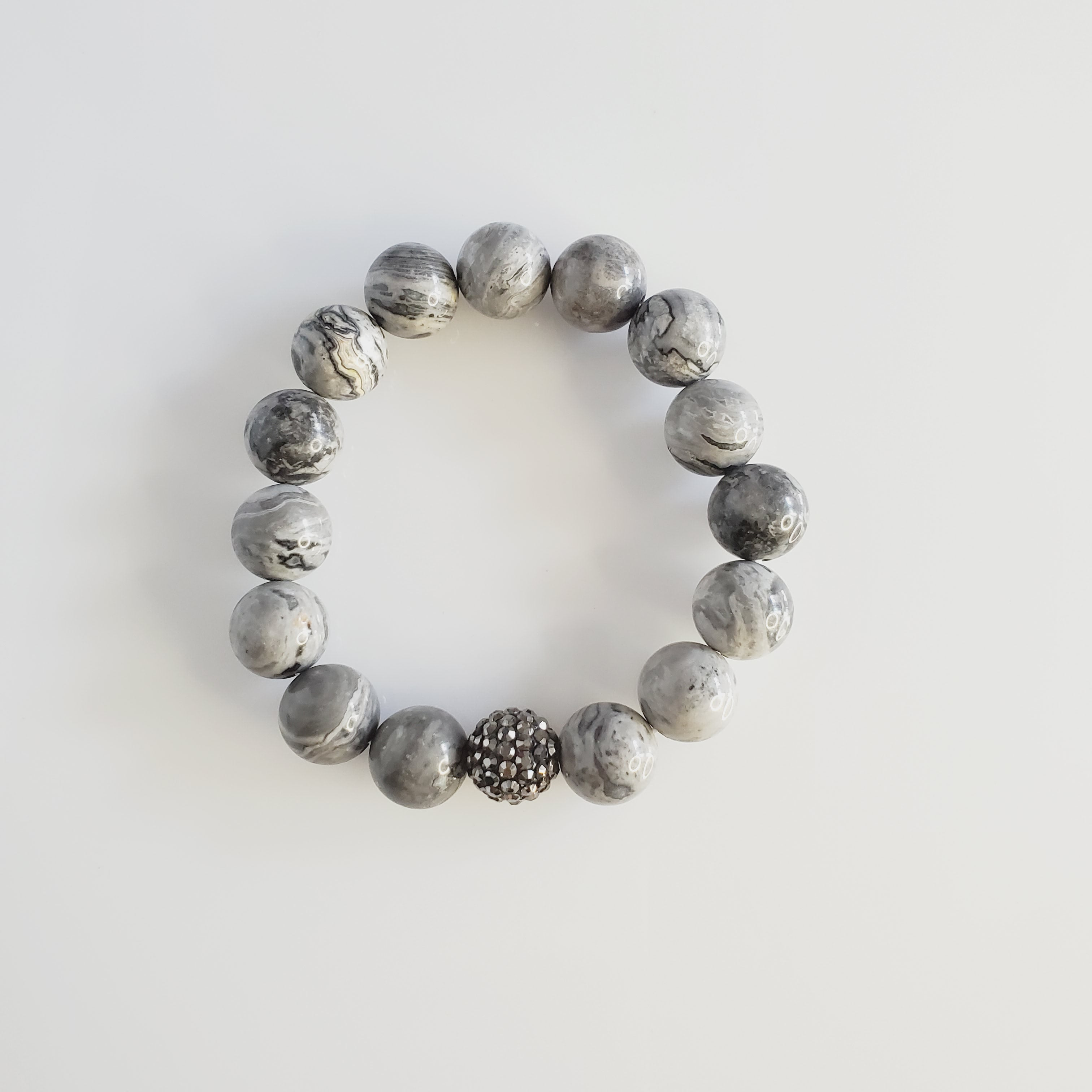 Gorgeous Gray Druzy 3 Piece Bracelet Set