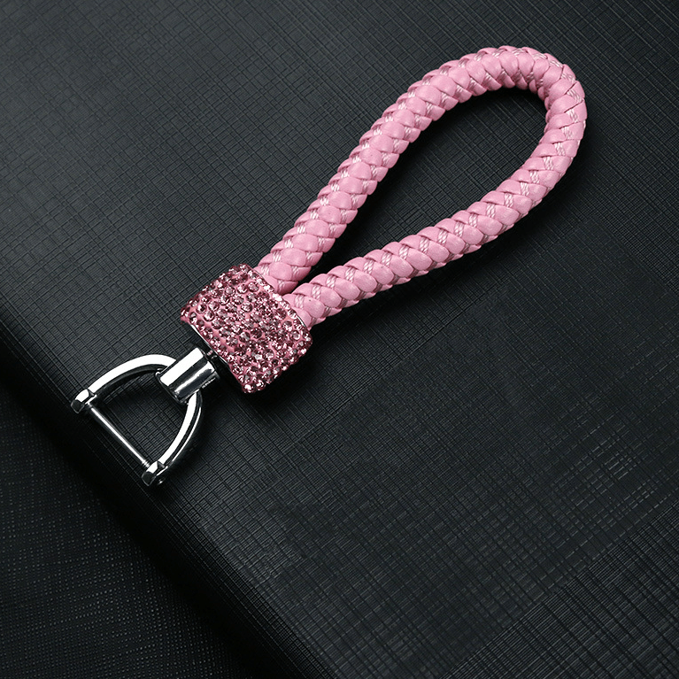 Crystal Braided Pink Rope Key Chain - Pretty Fab Things