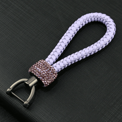 Crystal Braided Lilac Rope Key Chain - Pretty Fab Things