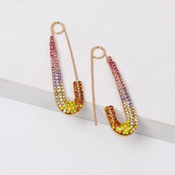 Micro Pave Rainbow Pin Earrings - Pretty Fab Things