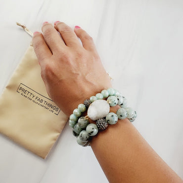 Minty Green Druzy 3 Piece Bracelet Set | Pretty Fab Things