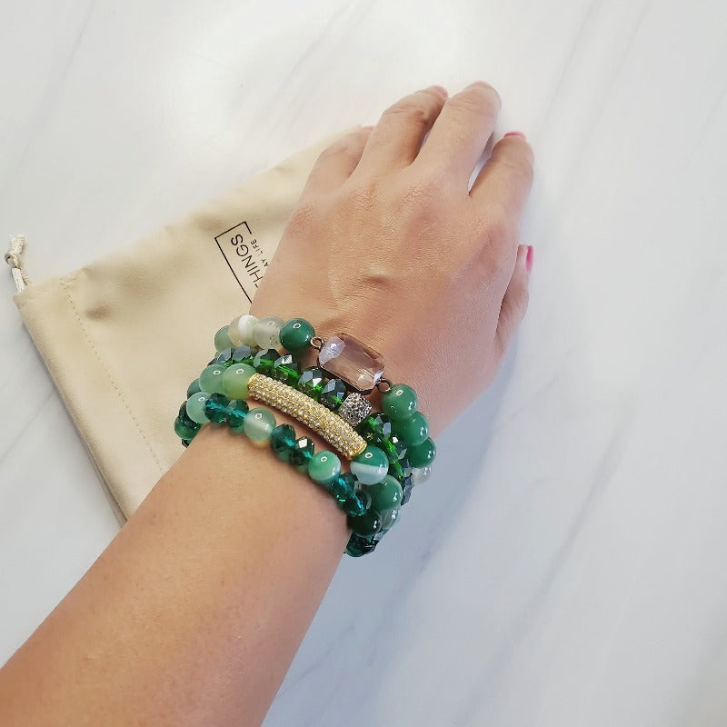 Gorgeous Green Bar Bracelet